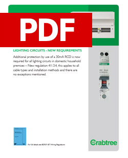 Crabtree - Additional Protection by 30mA RCD - Lighting Circuits - PDF
