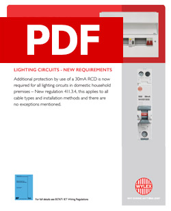 Wylex - Additional Protection by 30mA RCD - Lighting Circuits - PDF