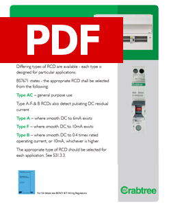 Crabtree - Type of RCD - An Aid to Selection - PDF