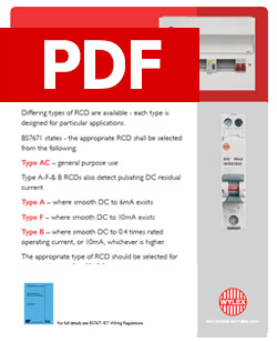 Wylex - Types of RCD - PDF