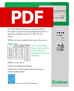 Crabtree - Arc Fault - Detection Devices - PDF